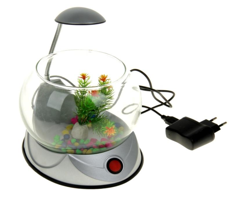 шарообразные круглые аквариумы с подсветкой